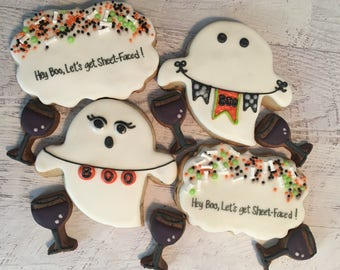 Hey Boo, Let's Get Sheet-Faced Cookie Set