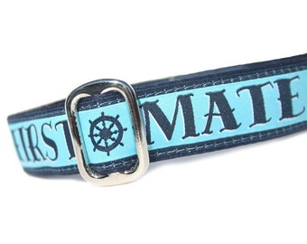 """1"""" Dog Collar First Mate - Choose Your Collar Style!"""