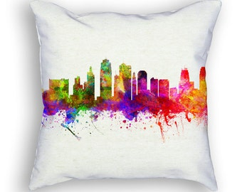 Kansas City Missouri Throw Pillow, 18x18, Cushion Home Decor, Gift Idea, Pillow Case 02