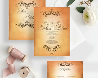 Wedding invitation fairytale princess wedding invitation - {Columbus design}