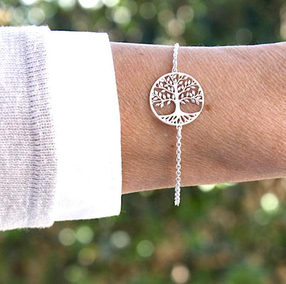 women Silver 925 tree of life bracelet GM on chain