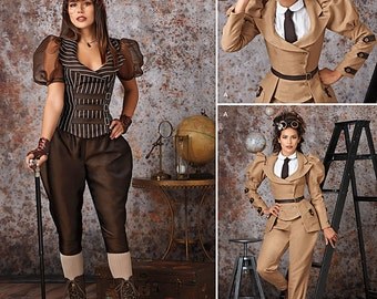 Simplicity Sewing Pattern 8114 Misses' Steampunk Costumes