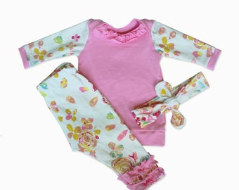 Newborn Baby Girl Outfits - Floral - Girl Outfits - 3 Piece