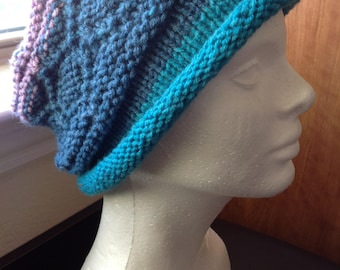 Slouchy Hat - hand knitted
