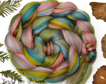 MISS POTTER - Custom Blend Merino and Tussah Silk Combed Top Wool Roving for Spinning or Felting Fiber- 4 oz