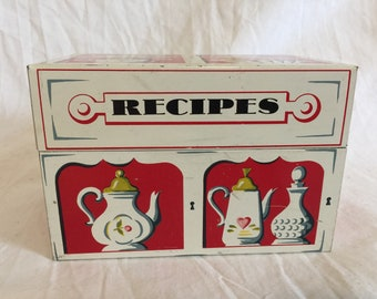 Mayfair Co 1954 Tin Recipe Box