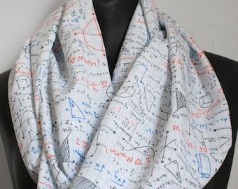 Math Homework Scarf - Nerd Geek Silky Infinity Scarf
