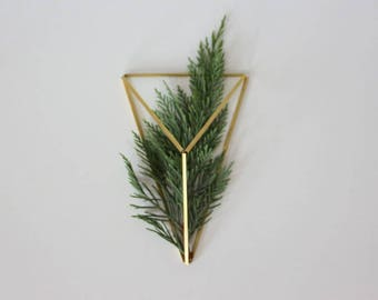Brass Himmeli Decor, Modern Minimalist Himmeli Mobile, Geometric Ornament, Air Plant Holder