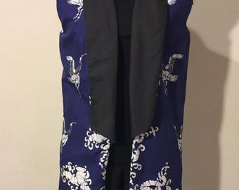 Blue/Black Collared Vest