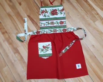 Christmas Apron with Cardinal. Make you holiday season more festive.