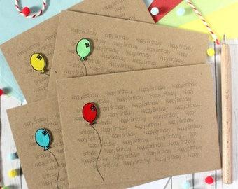 Happy Birthday Card. Handmade Happy Birthday Card. Birthday Balloon. Birthday Card. Handmade Birthday Card. Balloon Card. Happy Birthday