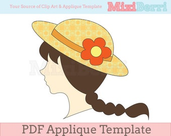 Applique Template Girl PDF