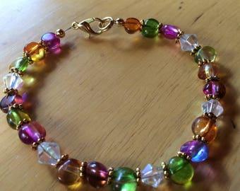 Colors of Summer Beaded Bracelet