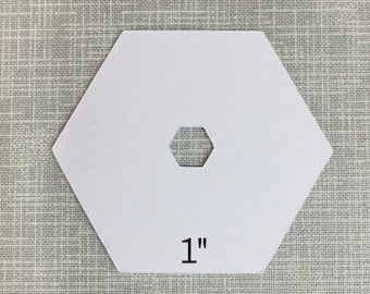 English Paper Piecing - 1 Inch w/Hexagon Punch 100ct.