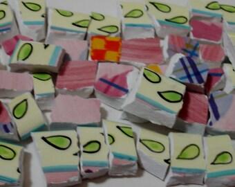 Carreaux de mosaique - Funky Time - vif plaisir - pièces de mosaïque - pièces de mosaïque Tessera Funky