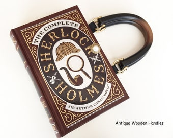 Sherlock Holmes Book Purse - Sherlock Book Cover Handbag - Sherlock Pocket Book Clutch - 221B Sherlock Handbag - Sherlock Collector Gift