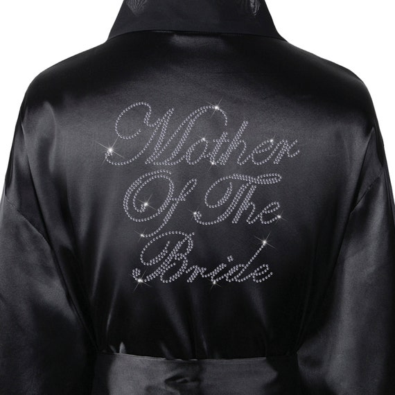 Personalised Mother of the bride Wedding Day Satin Bathrobe