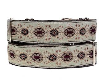 Martingale, Dog Collar, CRANBERRY SPLASH, Neutral and Cranberry Red, Greyhound Collar, Sighthound Collar, Adjustable, training collar