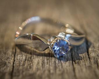 Natural Light Blue Tanzanite Ring Silver Tanzanite Ring Gold Ring December Birthstone Ring Tanzanite Jewelry