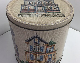 Large Tin Cross Stitch Embroidery Craft Storage Houses