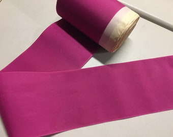 Vintage Taffeta Ribbon, Fuchsia, 4 3/4 inches wide,Made of Nylon - Price is per yard