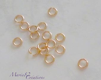 Rings 5 X 0.80 mm - 0r 18K plated / brass Base