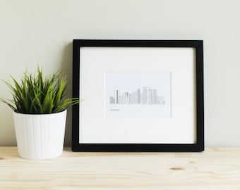 LA Los Angeles Skyline Art Print downtown LA downtown Los Angeles LA skyline Los Angeles California southern california art