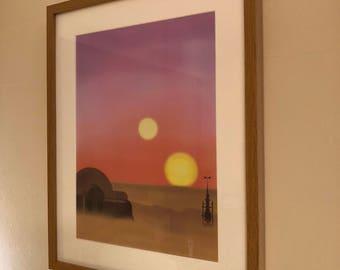 Tatooine Original Art Print