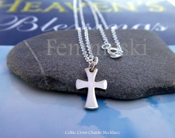 Celtic Cross Necklace - 925 Sterling Silver - Christian Jewelry - Religious Necklace - Spiritual Necklace - Faith Necklace - Baptism Gift