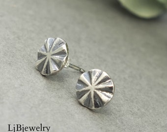 Sterling Silver Star Studs, Silver Earrings, Handmade Earrings, Metalsmith, Handmade Jewelry, Silver Jewelry,