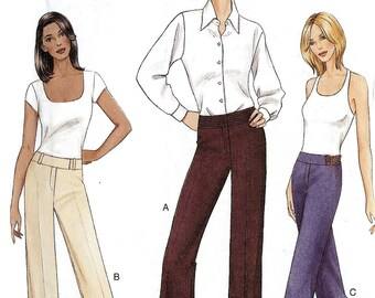Sewing pattern Below waist Wide legged Pants Vogue 7685 6-8-10 uncut