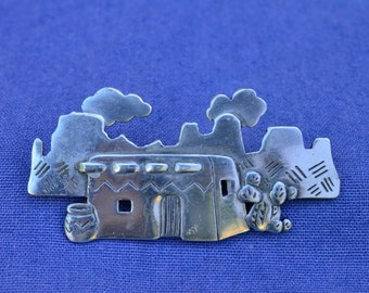 Southwest Pueblo Brooch by JJ©1988