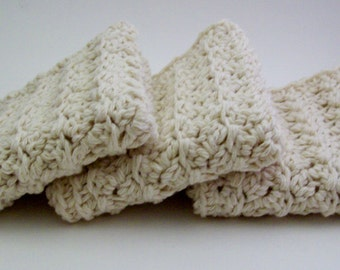 Hand Crocheted Cotton Spa Wash Cloths