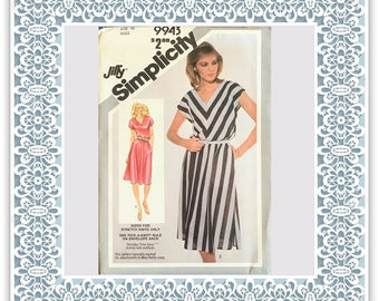 Simplicity 9943 (1981) Misses' Jiffy pullover dress (with petite option) - Vintage Uncut Sewing Pattern