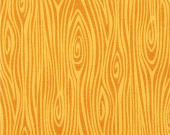 215831 yellow Michael Miller fabric Just Wood Knot