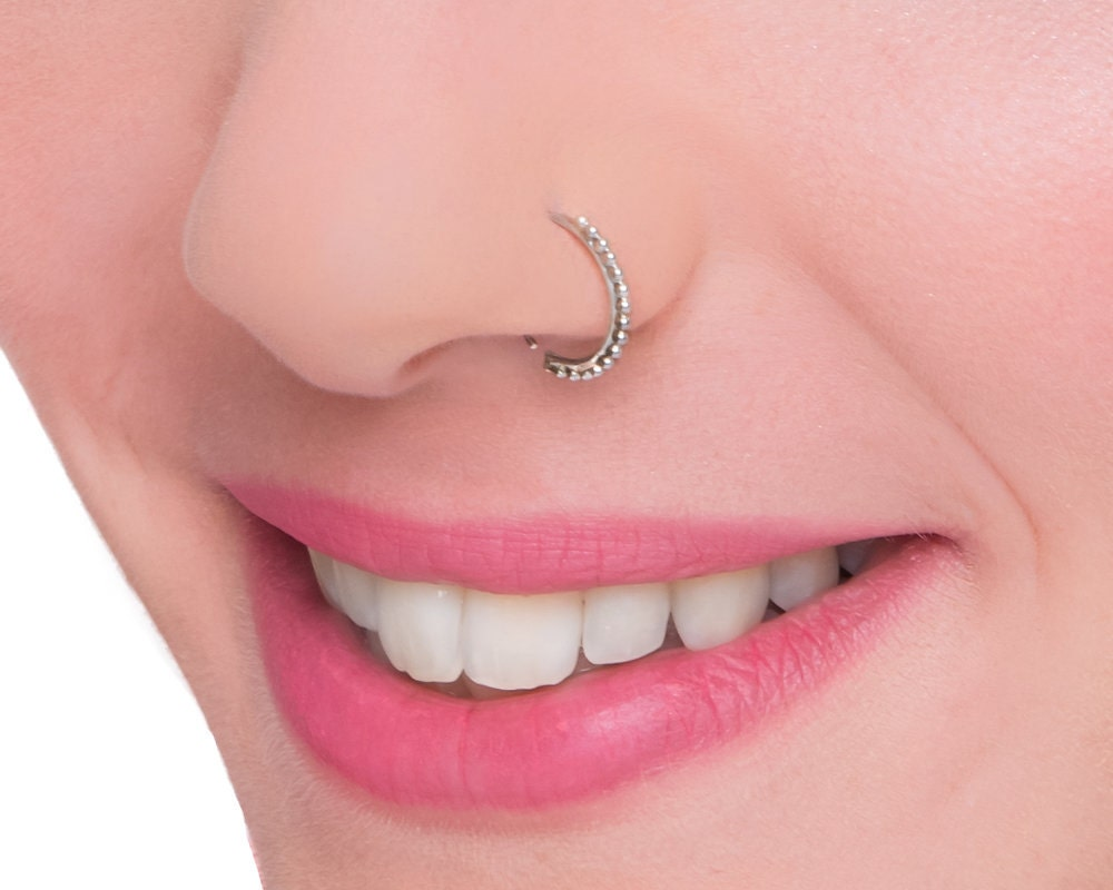 Indian Nose Hoop Sterling Silver Nose Ring Tribal Nose