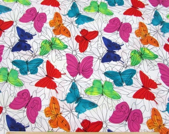 Keepsake Calico Butterfly Multi Funny Florals Fabric From Springs Creative By the Yard