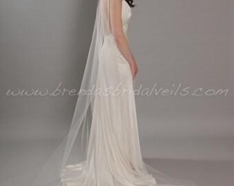 Bridal Veil, Sheer Single Layer, Wedding Veil, 90 thru 108 inch lengths available - Ashley