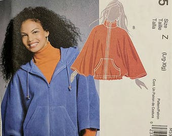 M5985, Sewing Pattern, Capelet Pattern, Jacket Pattern, Sizes L-XL, Out of Print