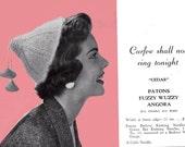 Patons 444 Vintage 1940s Womens Girls Hats Gloves Knitting & Crochet Patterns Book ORIGINAL patterns not PDF