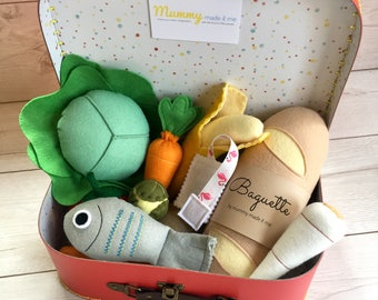 Build your own Pretend Play Felt Food Bumper Hamper Box - Perfect Gift!