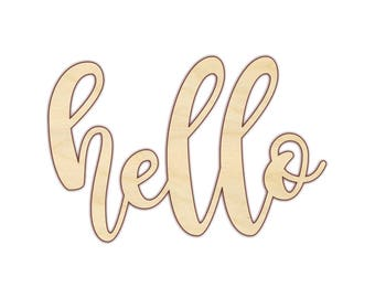 Hello Wood Sign - Laser Cut Words - 180142