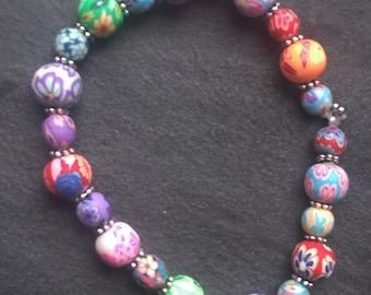 Bracelet beads round fancy