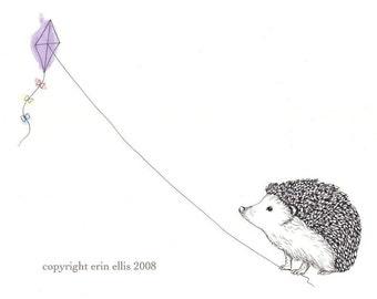 Hedgehog 8x10 Print