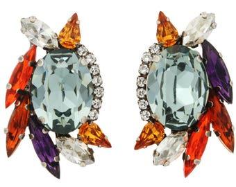 """Tova """"Elu"""" Swarovski crystal stud earrings"""
