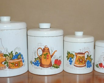 Vintage Ransburg Canister Set - Kitchen Decor - Collectible - Storage - Gifts for Her