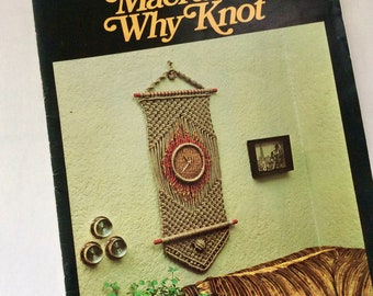 Macrame - Pattern Book - Plant Hangers - How To Book - easy to follow - illustrated - Step by Step Instructions - DIY - learn Macrame Knots