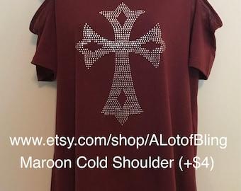 Cross 2 Rhinestone T-Shirt