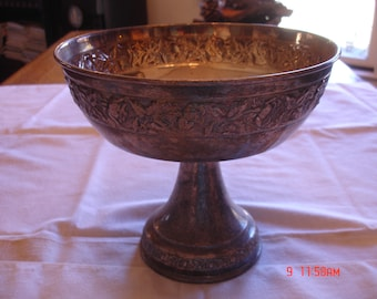 "Silver Plate Compote, 9"" Round"