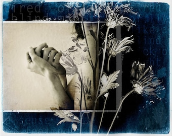 photography, fine art body photography, nature photograph, montage of words flowers womans hands
